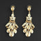 Kriaa Brown Crystal Stone Dangler earrings - 1315623