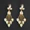 Kriaa Brown Crystal Stone Dangler earrings - 1315624