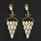 Kriaa Brown Crystal Stone Dangler earrings - 1315630