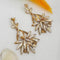 Kriaa Brown Crystal And Austrian Stone Dangler earrings - 1315635