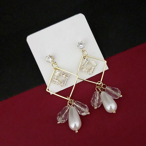 Urthn AD Stone Gold Plated Dangler Earrings - 1315805A