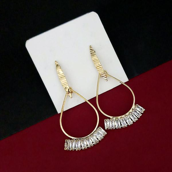 Urthn Gold Plated AD Stone Dangler Earrings - 1315814A