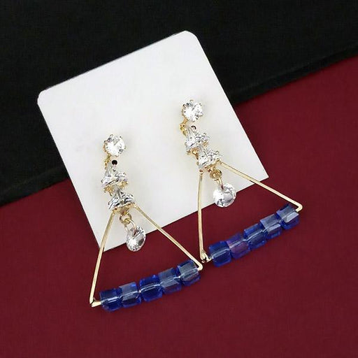 Urthn Crystal Stone Gold Plated Dangler Earrings - 1315831A
