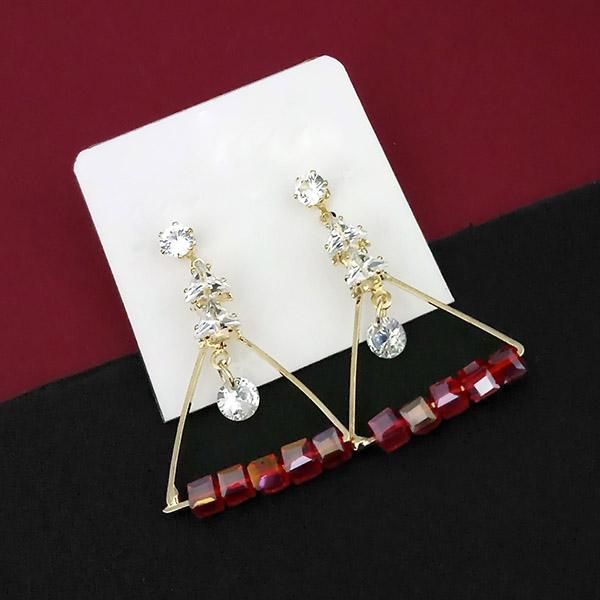 Urthn Crystal Stone Gold Plated Dangler Earrings - 1315831B