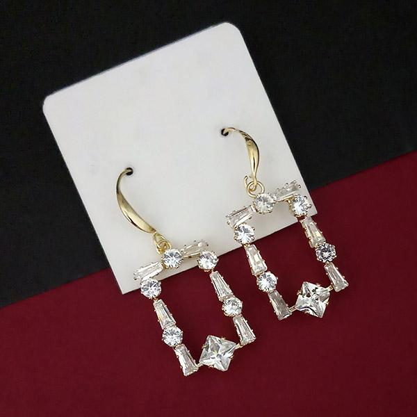 Urthn AD Stone Gold Plated Dangler Earrings - 1315844A