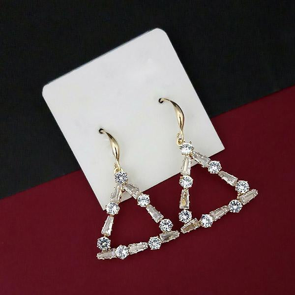Urthn AD Stone Gold Plated Dangler Earrings - 1315845A