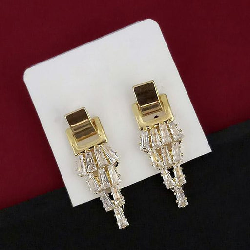 Urthn AD Stone Gold Plated Dangler Earrings - 1315847A