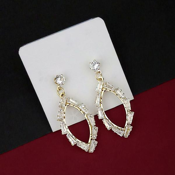 Urthn AD Stone Gold Plated Dangler Earrings - 1315851A