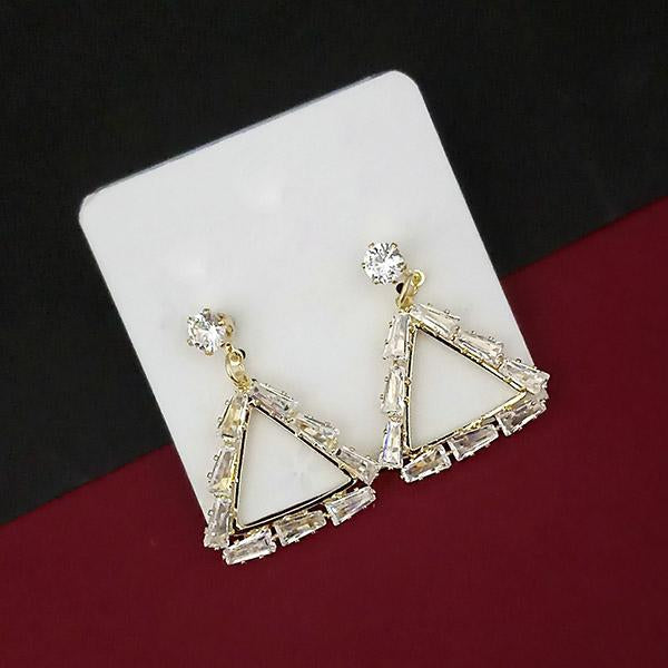 Urthn Gold Plated AD Stone Dangler Earrings - 1315853A