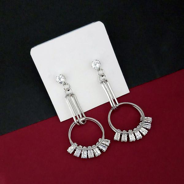 Urthn Silver Plated AD Stone Dangler Earrings - 1315855