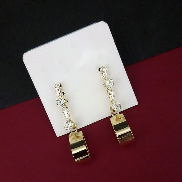 Urthn AD Stone Gold Plated Dangler Earrings - 1315865A