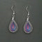 Jeweljunk Rhodium Plated Blue Pink Thread Dangler Earrings - 1316101F