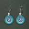 Jeweljunk Rhodium Plated Blue Thread Dangler Earrings - 1316108H
