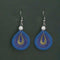 Jeweljunk Rhodium Plated Blue Thread Dangler Earrings - 1316108N