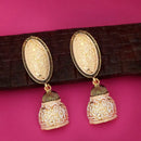 Kriaa Black Meenakari Dangler Earrings