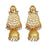 Shreeji Gold Plated White Pearl Jhumki Earrings