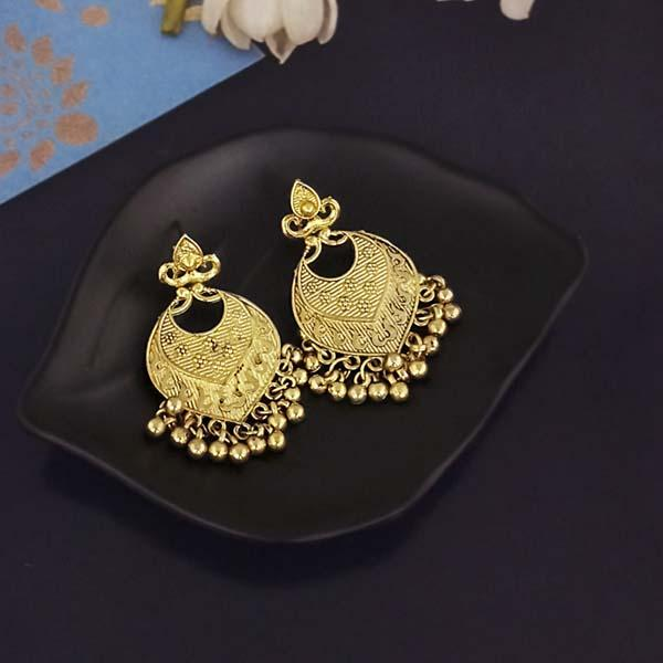 Shubh Art Gold Plated Dangler Earrings-1317002A