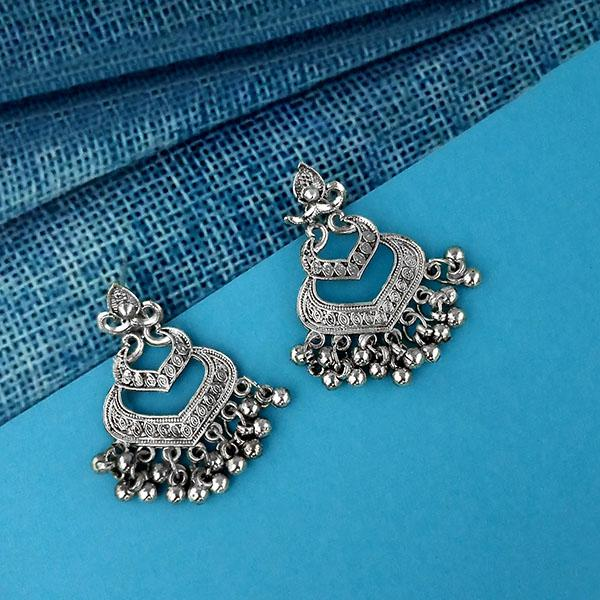 Shubh Art Oxidised Plated Dangler Earrings - 1317003