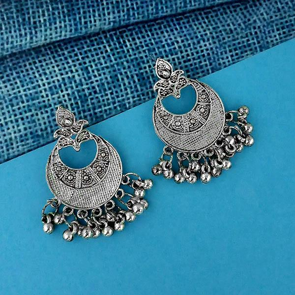 Shubh Art Oxidised Plated Dangler Earrings - 1317005