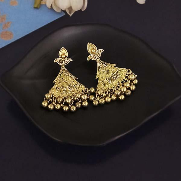 Shubh Art Gold Plated Dangler Earrings-1317009A