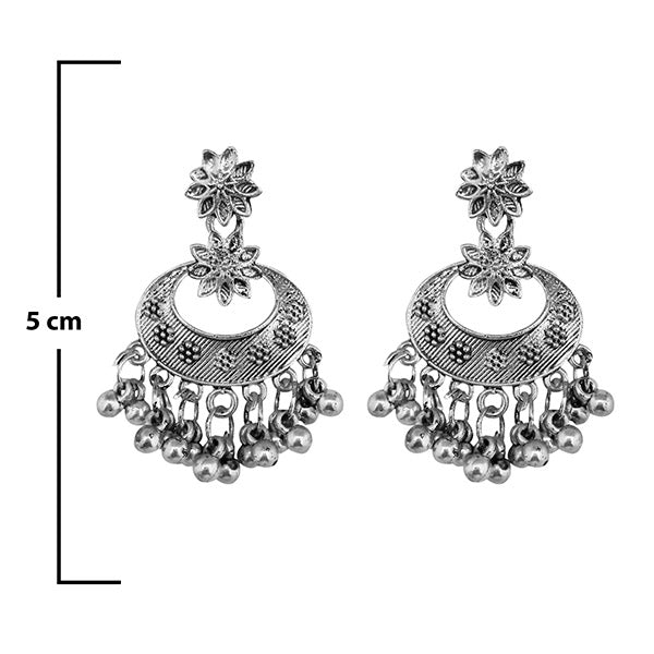 Shubh Art Oxidised Plated Dangler Earrings - 1317017