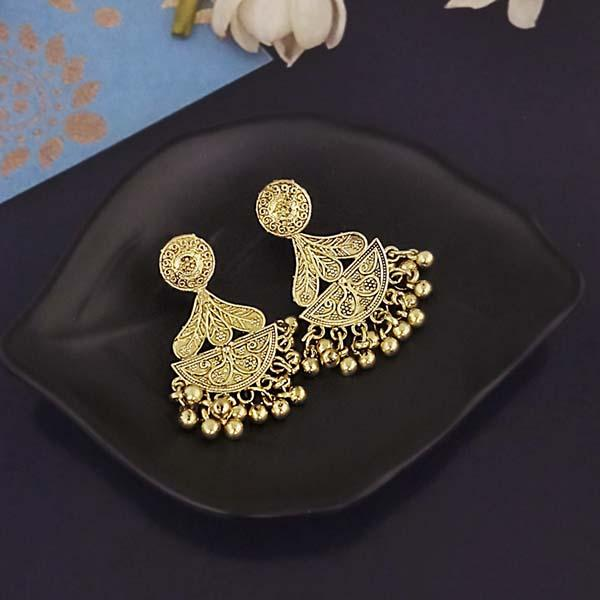 Shubh Art Gold Plated Dangler Earrings-1317018A