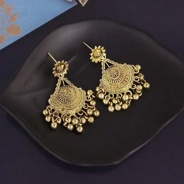 Shubh Art Gold Plated Dangler Earrings-1317019A