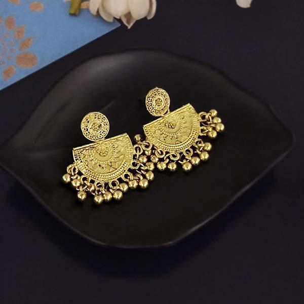 Shubh Art Gold Plated Dangler Earrings-1317022A