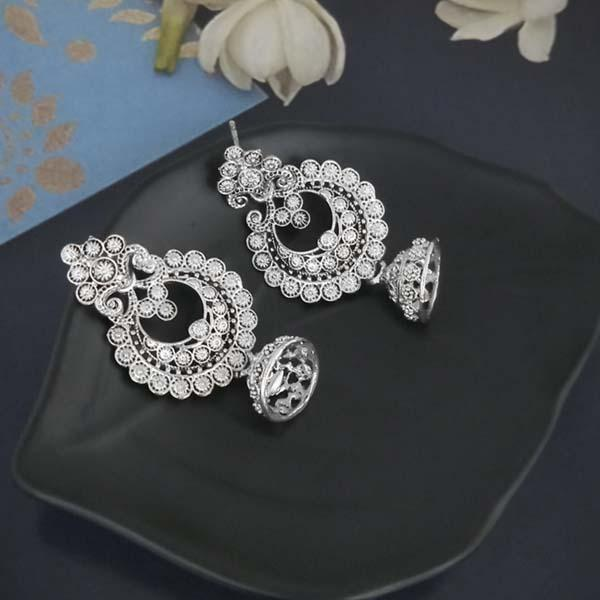 Shubh Art Oxidised Plated Jhumki Earrings-1317032