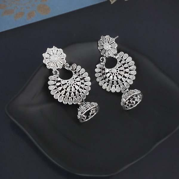 Shubh Art Oxidised Plated Jhumki Earrings-1317033