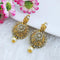 Shubh Art Gold Plated Austrian Stone Pearl Earrings - 1317042A