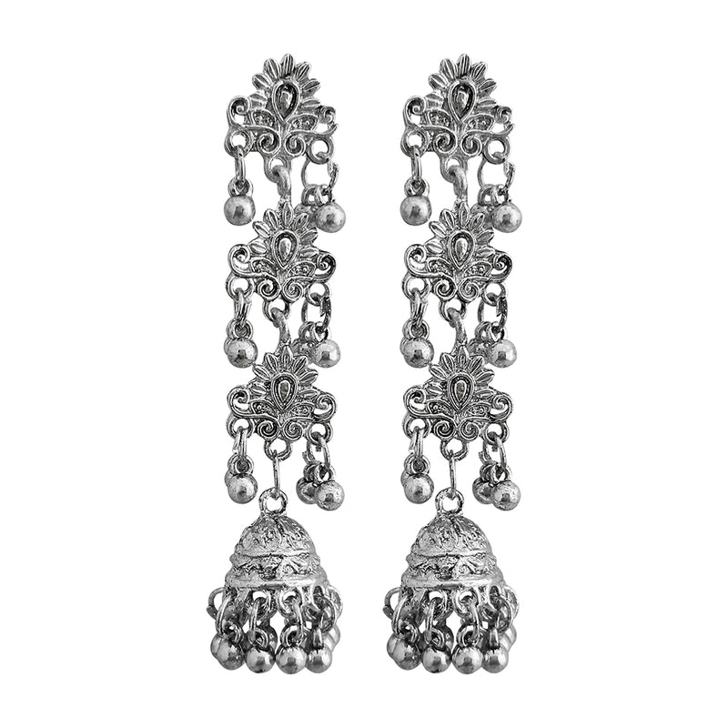 Shubh Art Oxidised Plated Multi Layer Dangler Earrings -1317048