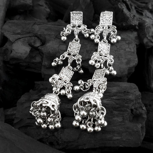 Shubh Art Oxidised Plated Multi Layer Dangler Earrings -1317050