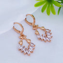 JB Arts Gold Plated AD Stone Dangler Earrings