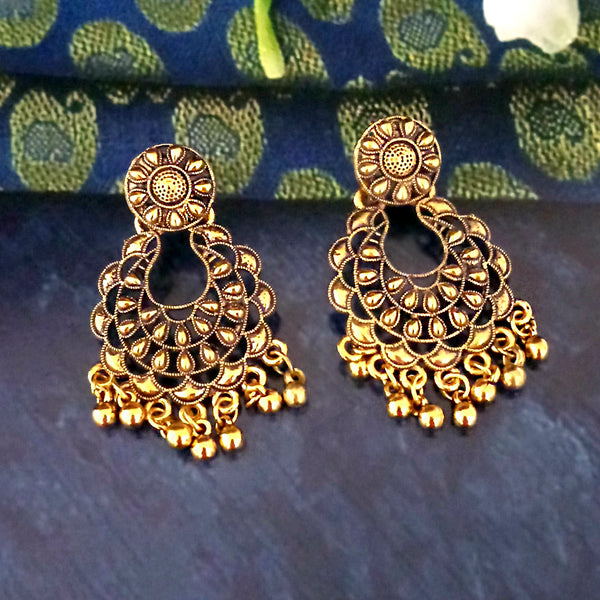 Woma Gold Plated Dangler Earrings -1318243B