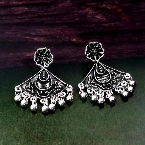 Woma Oxidised Silver Plated Dangler Earrings -1318258