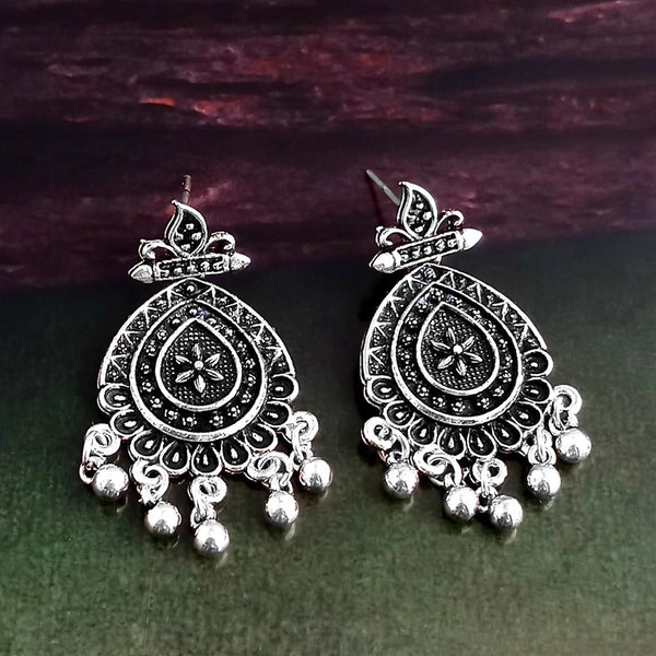 Woma Oxidised Silver Plated Dangler Earrings -1318260