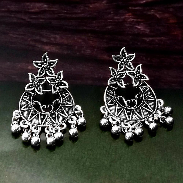 Woma Oxidised Silver Plated Dangler Earrings -1318262