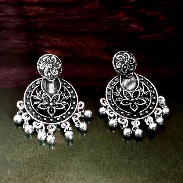 Woma Oxidised Silver Plated Dangler Earrings -1318301