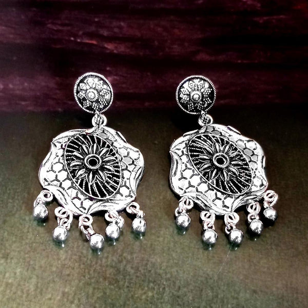 Woma Oxidised Silver Plated Dangler Earrings -1318309