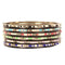Kriaa Multicolur Beads Gold Plated Bangle Set