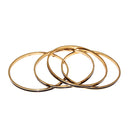 Kriaa Zinc Alloy Gold Plated Bangle Set