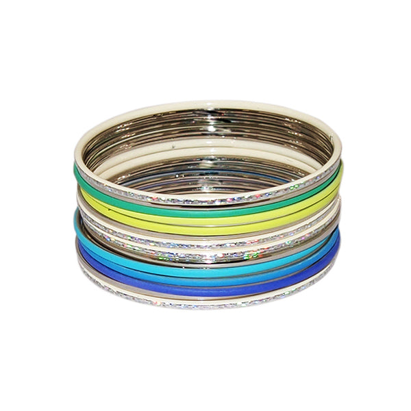 Kriaa Zinc Alloy Multicolour Bangle Set