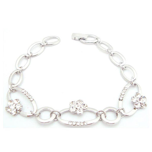 Urthn White Silver Plated Bracelets
