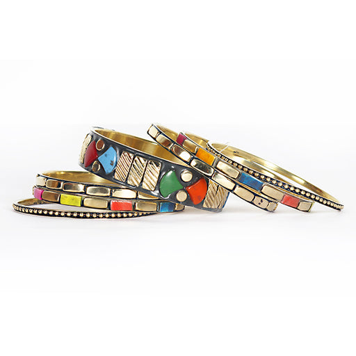 Urthn Multicolour Beads Bangle Set