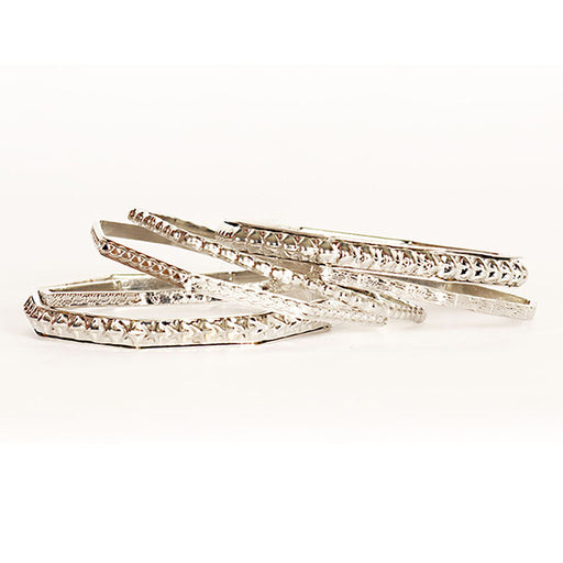 Urthn Silver Plated Bangle Set