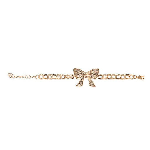 Urthn Bow Shaped Rose Gold Plated Austrian Stone Bracelet