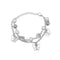 Kriaa Silver Plated Pearl And Butterfly Design Bracelet - 1400541A