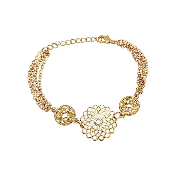 Urthn Gold Plated Adjustable Bracelet - 1400549