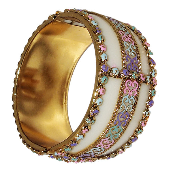 Kriaa Multicolor Meenakari Gold Plated Kada